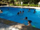 Refrescádo en la piscina
